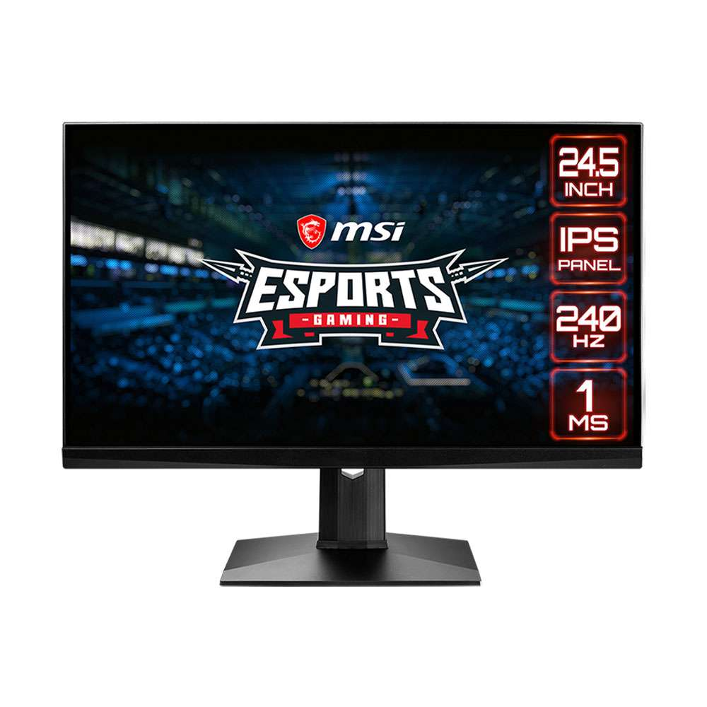 MSI Optix 24.5 Inch, FHD, 240Hz, Black Gaming Monitor - MAG251RX