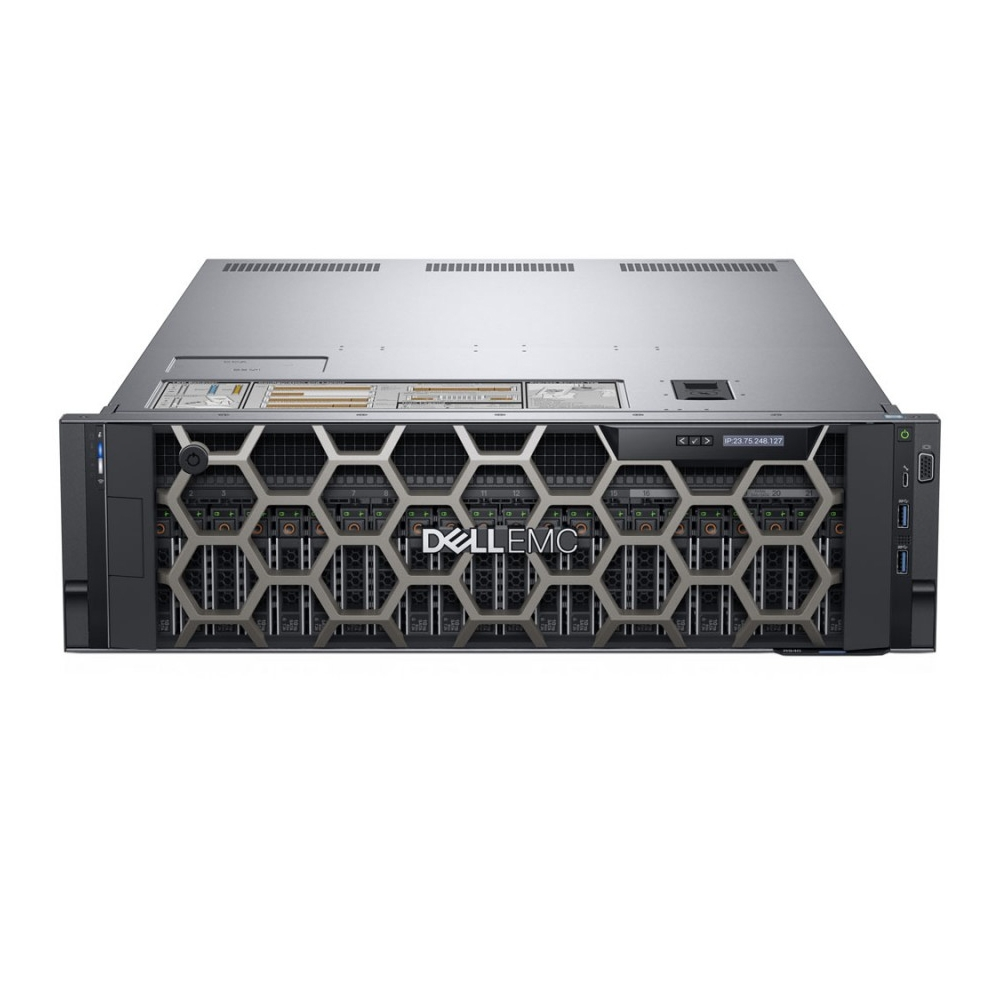 Dell PowerEdge R940 Server,2x Intel Xeon Gold 5120 2.2G, 32GB RAM, 480GB SSD, 1100W PowerSupply, 3Yrs